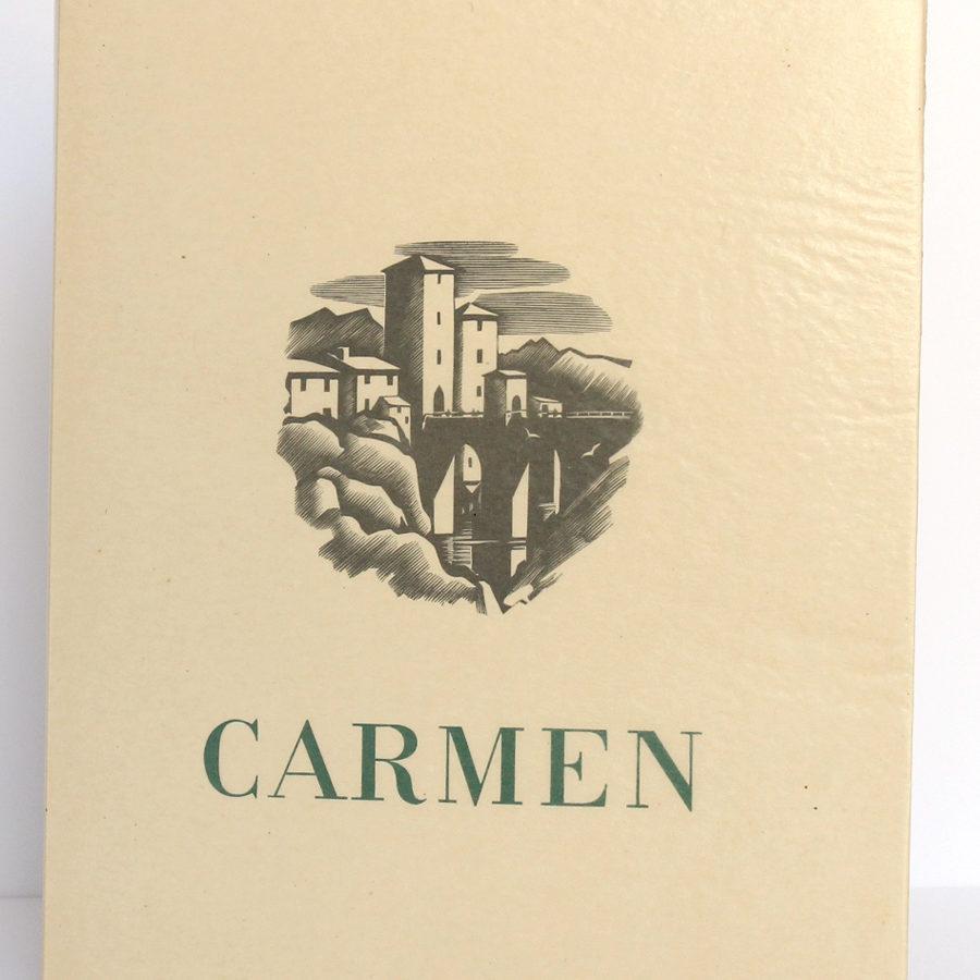 Carmen, Prosper MÉRIMÉE. Le Vasseur et Cie, 1943. Couverture.