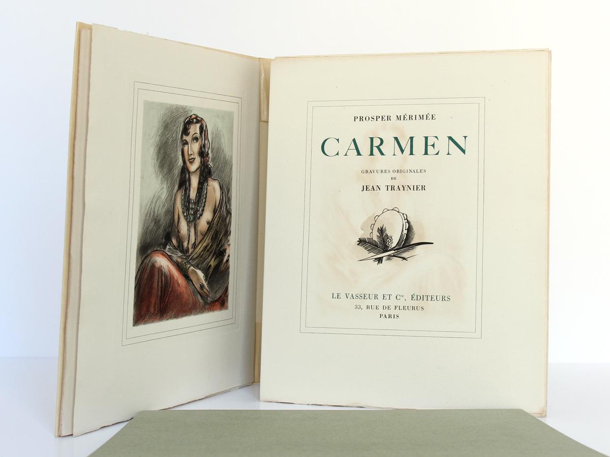 Carmen, Prosper MÉRIMÉE. Le Vasseur et Cie, 1943. Frontispice et page titre.
