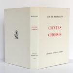 Contes choisis, MAUPASSANT, illustrations Raoul SERRES. Éditions Jacques Petit, 1946. Couverture : dos et plats.