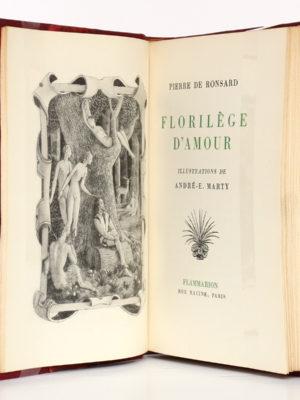 Florilège d'amour, Pierre de RONSARD, illustrations de MARTY. Flammarion, 1953. Frontispice et page-titre.