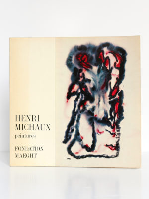 Henri Michaux Peintures. Saint-Paul, Fondation Maeght, 1976. Couverture.