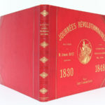Journées révolutionnaires 1830 1848, Armand DAYOT. Flammarion. Reliure : dos et plats.