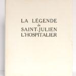La Légende de Saint-Julien l'Hospitalier, Gustave FLAUBERT. Illustrations LaureDELVOLVÉ. Compagnie française des Arts graphiques, 1953. Couverture.