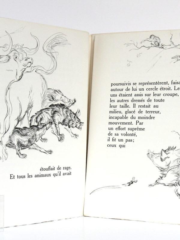 La Légende de Saint-Julien l'Hospitalier, Gustave FLAUBERT. Illustrations LaureDELVOLVÉ. Compagnie française des Arts graphiques, 1953. Pages intérieures.
