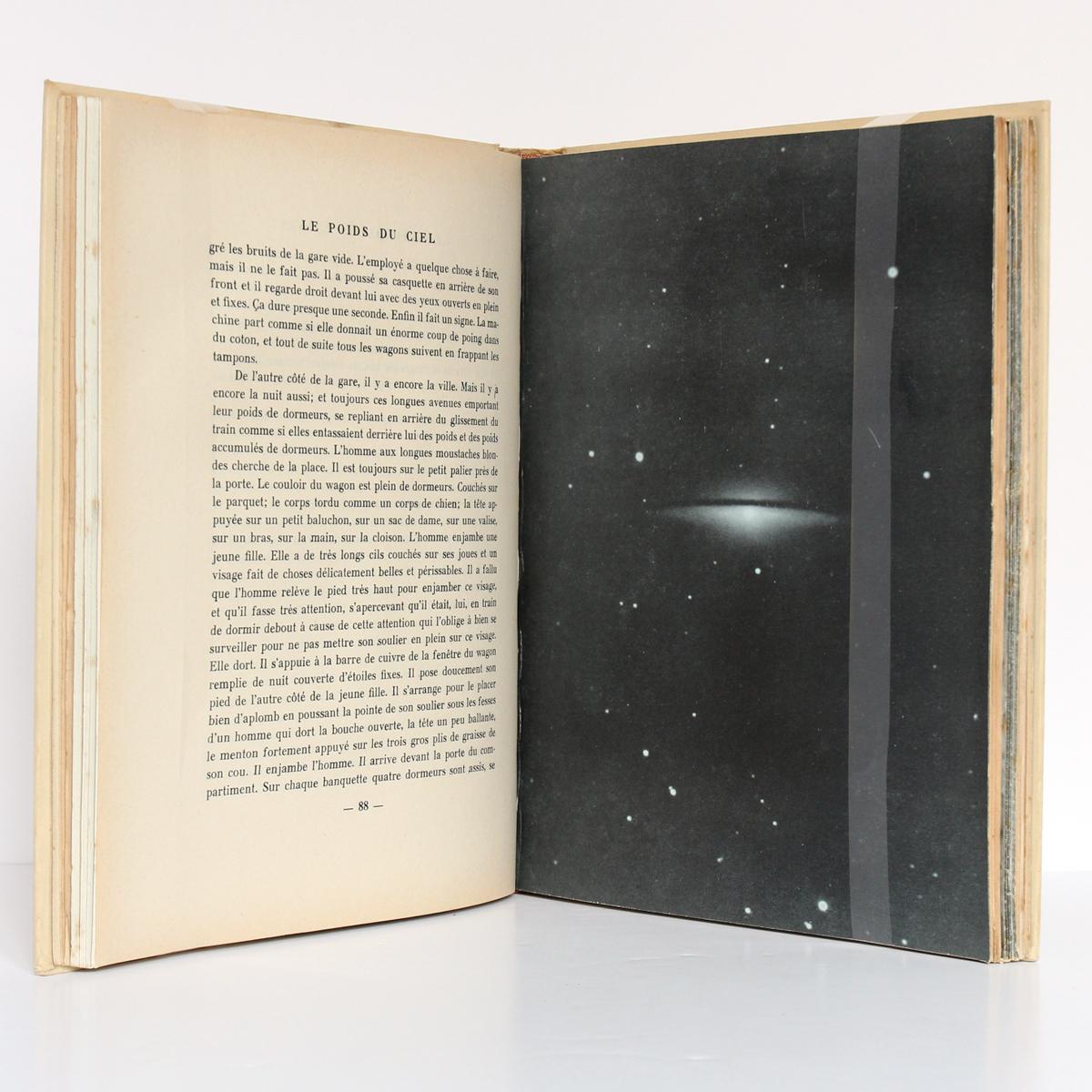 Le Poids du ciel, Jean GIONO. nrf-Gallimard, 1938. Pages intérieures.