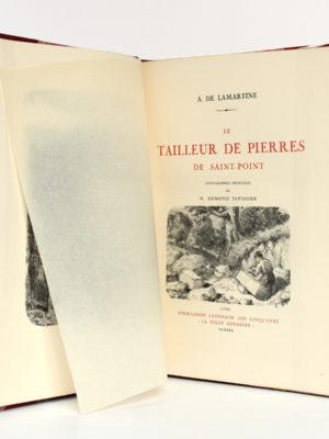 """Le Tailleur de pierres de Saint-Point, Alphonse de LAMARTINE, lithographies de Edmond TAPISSIER. """"La Belle Cordière"""", 1931. Page titre."""