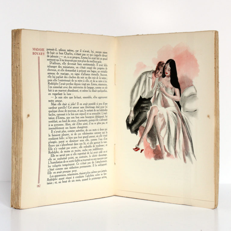 Madame Bovary, Gustave FLAUBERT. Illustrations de CURA. Éditions Athêna, 1947. Pages intérieures 1.