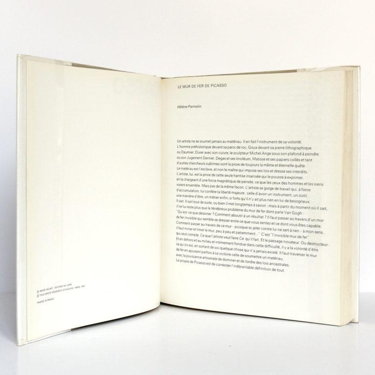 Picasso lithographe, Fernand MOURLOT. André Sauret - Éditions du livre, 1970. Pages intérieures 1.
