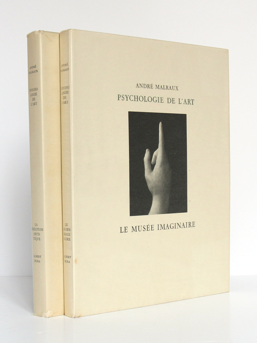 Psychologie de l'Art: Le musée imaginaire, La création artistique. Skira éditeur, 1947-1948. 2 volumes.