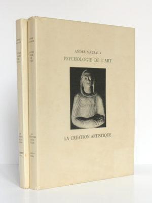 Psychologie de l'Art: Le musée imaginaire, La création artistique. Skira éditeur, 1947-1948. 2 volumes brochés.