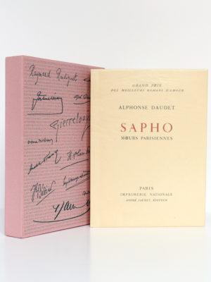 Sapho Mœurs parisiennes, Alphonse DAUDET. Burin de DECARIS. Imprimerie Nationale, André Sauret Éditeur, 1957. Livre et étui.