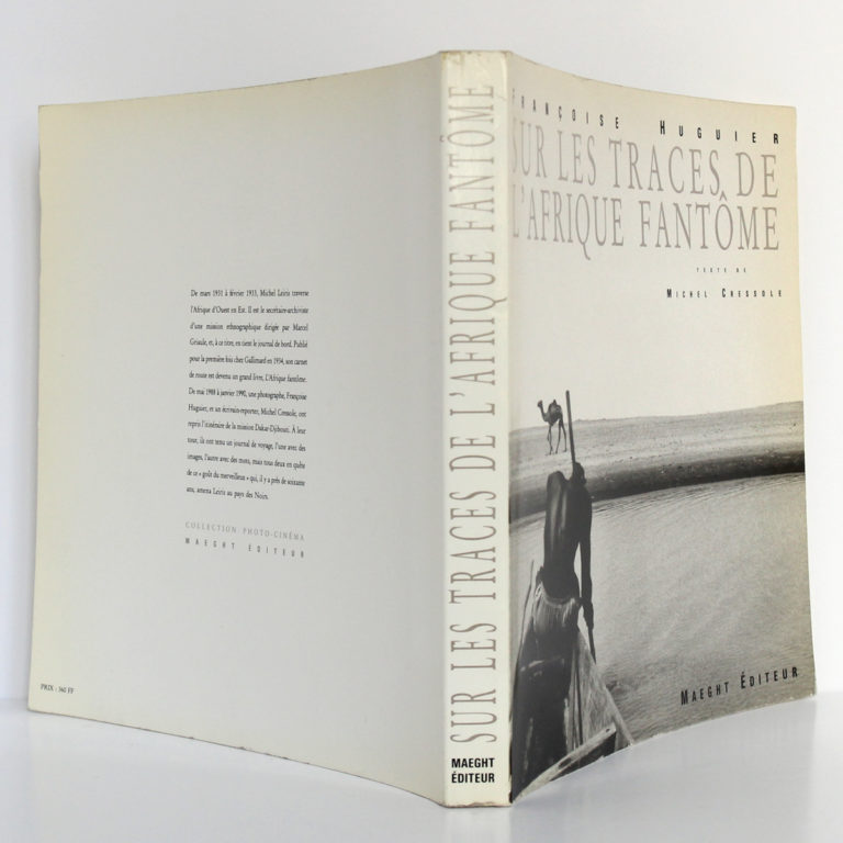 Sur les traces de l'Afrique fantôme, Michel Cressole. Maeght Éditeur, 1990. Couverture : dos et plats.