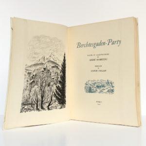 Berchtesgaden Party, André HAMBOURG, 1947. Frontispice et page titre.