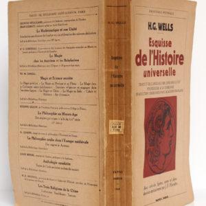 Esquisse de l'Histoire universelle, par H. G. Wells. Payot, 1948. Couverture : dos et plats.