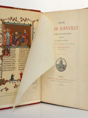 Jean Sire de Joinville, Histoire de Saint Louis, Natalis de WAILLY. Firmin Didot Frères, 1874. Frontispice et page titre.