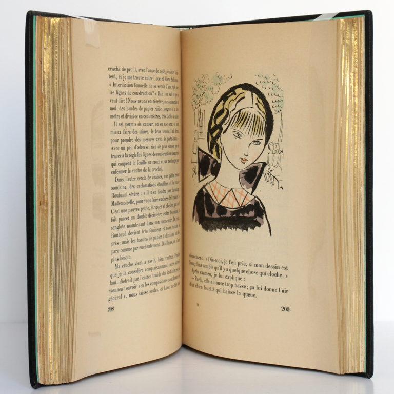 Claudine à l'école, Colette. Illustrations de Chas Laborde. Henri Jonquières et Cie, 1925. Pages intérieures.