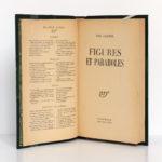 Figures et Paraboles, Paul Claudel. Gallimard-nrf, 1936. Page titre.