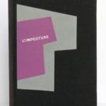 L'Imposture, Georges Bernanos. Club du meilleur livre, 1953. Reliure : premier plat.
