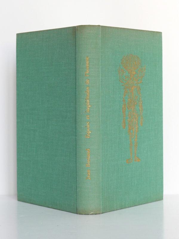 Espoirs et inquiétudes de l'homme, Jean Rostand. Club du meilleur livre, 1959. Reliure : dos et plats.