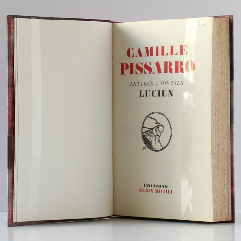 Lettres à son fils Lucien, Camille Pissarro. Albin Michel, 1950. Page titre.