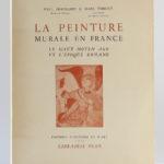 La peinture murale en France, Paul DESCHAMPS et Marc THIBOUT. Éditions d'Histoire et d'Art - Librairie Plon, 1951. Couverture.