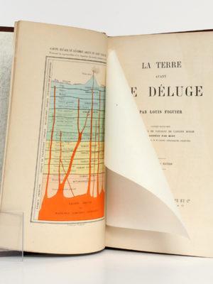 La Terre avant le déluge, Louis FIGUIER. Hachette, 1864. Frontispice et page titre.