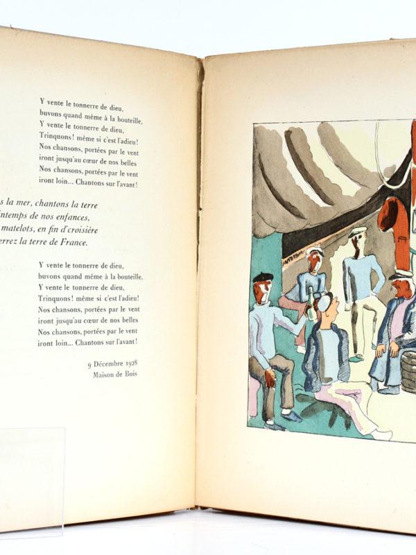Le Grand Vent, CHAMPIGNY, Essai de P. MAC-ORLAN, Illustrations de Béatrice APPIA. Librairie des Trois-Magots/Denoël, 1929. Pages intérieures 2.