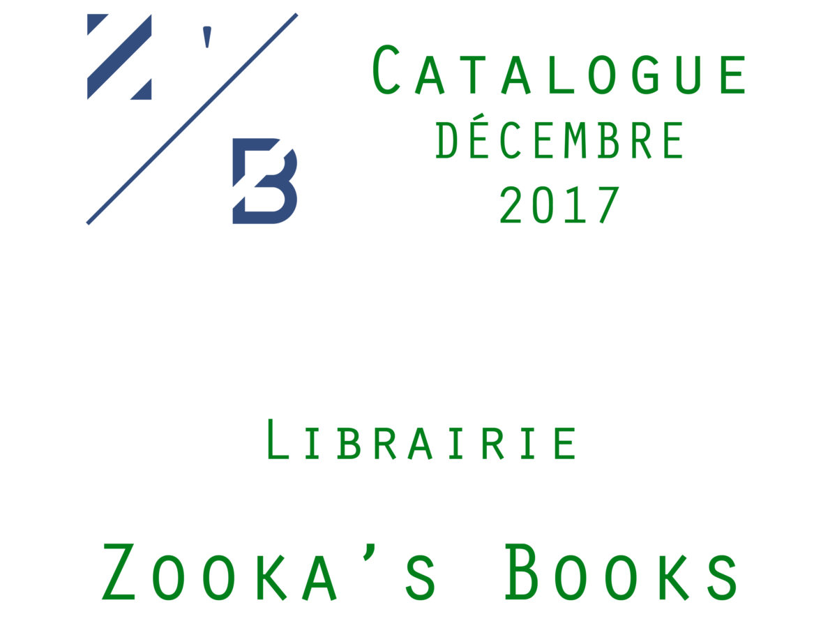 catalogue d cembre 2017 zooka 39 s books. Black Bedroom Furniture Sets. Home Design Ideas