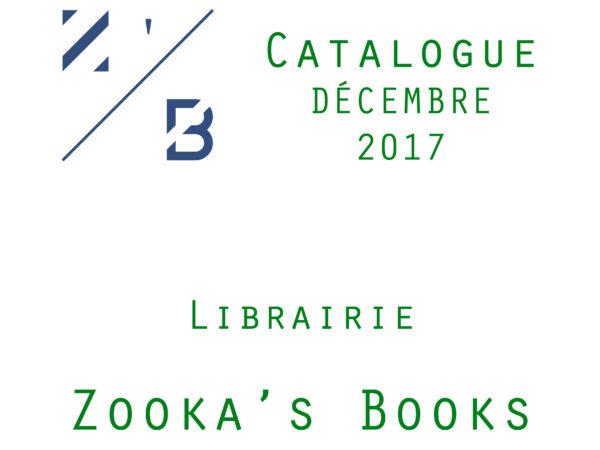 Catalogue Décembre 2017 Couverture - Librairie Zooka's Books