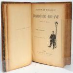 Chansons et monologues, Aristide BRUANT. H. Geffroy, sans date [fin du XIXesiècle]. Page titre.