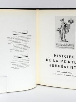 Histoire de la peinture surréaliste, Marcel JEAN. Éditions du Seuil, 1967. Page titre.