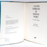 L'univers surréaliste de Desmond Morris, Michel REMY. Éditions Souffles, 1991. Page titre.
