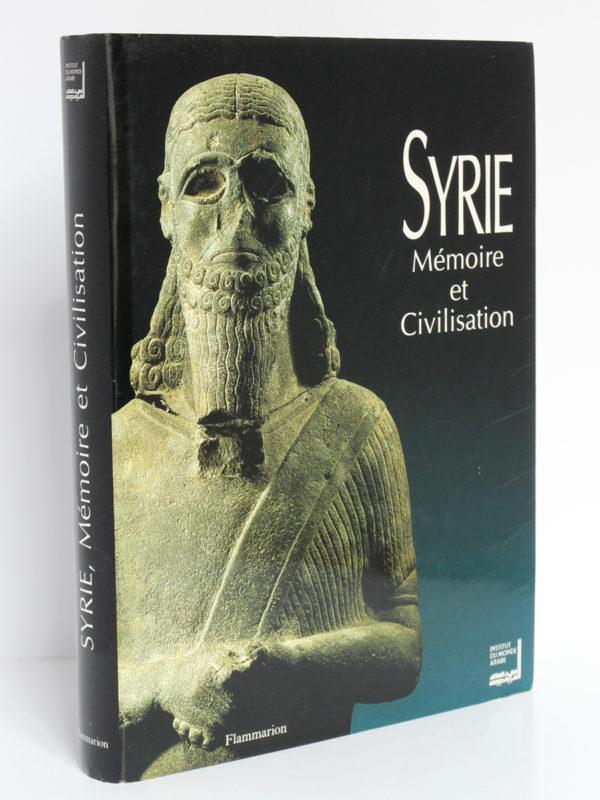 Syrie Mémoire et Civilisation. Catalogue exposition, 1993. Jaquette : couverture et dos.