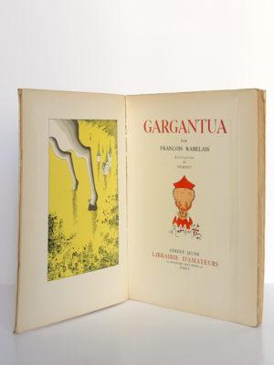 Gargantua, François Rabelais. Gibert Jeune Librairie d'Amateur, 1940. Illustrations de Dubout. Frontispice et page titre.