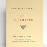 Les Illuminés, Gérard de Nerval. Imprimerie Nationale, 1959. Bois gravés par Henri Renaud. Couverture.