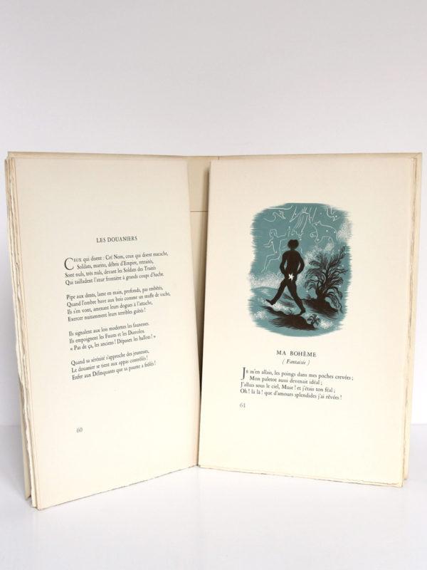 Poésies, Arthur Rimbaud. Marcel Lubineau Éditeur, 1953. Illustrations de Lucien Boucher. Pages intérieures 2.