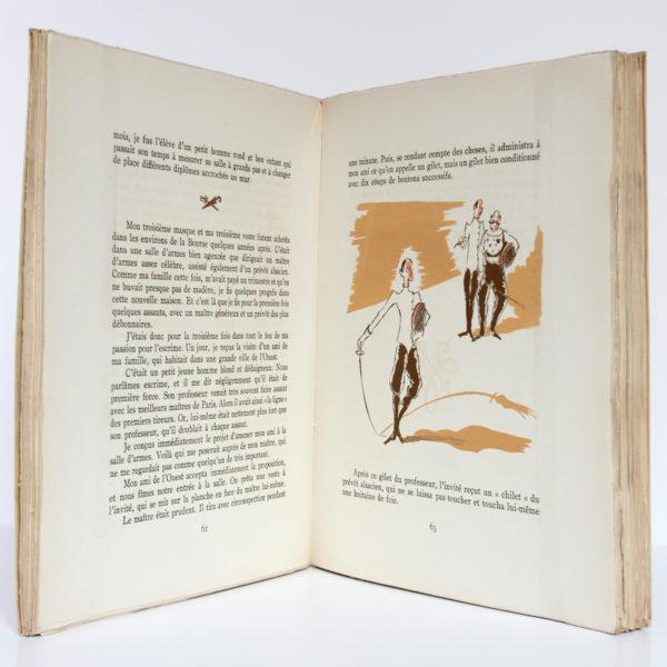 Vanille Pistache, Tristan Bernard. Éditions Raoul Solar, 1947. Illustrations de Paul Georges Klein. Pages intérieures.