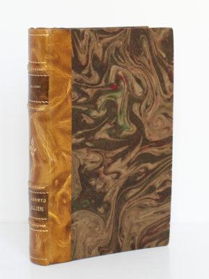 Les carnets de Gallieni publiés par son fils. Albin Michel, 1932. Reliure : plat 1 et dos.