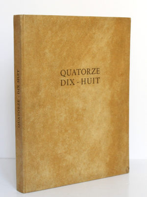 Quatorze Dix-huit, Marcel BROCHARD. Mémoire relié, Lyon/Nantes, 1953. Couverture.