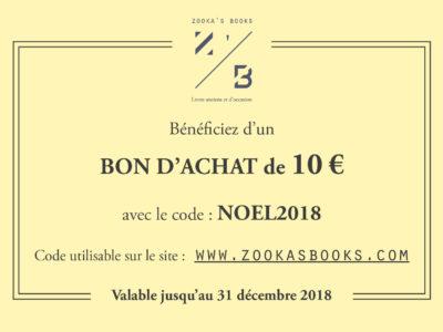 CodePromoNOEL 2018. Zookasbooks.
