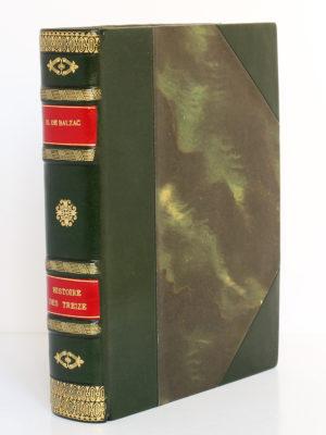Histoire des Treize, Honoré de BALZAC. Dessins de GastonBARRET. Éditions Albert Guillot, 1949. Reliure.