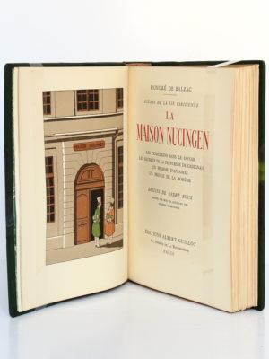 La Maison Nucingen, Honoré de BALZAC. Dessins de AndréROUX. Éditions Albert Guillot, 1949. Frontispice et page titre.