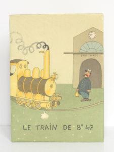 Le train de 8 h 47, COURTELINE. Illustrations de DUBOUT. Aux Éditions du Livre, 1951. Couverture.