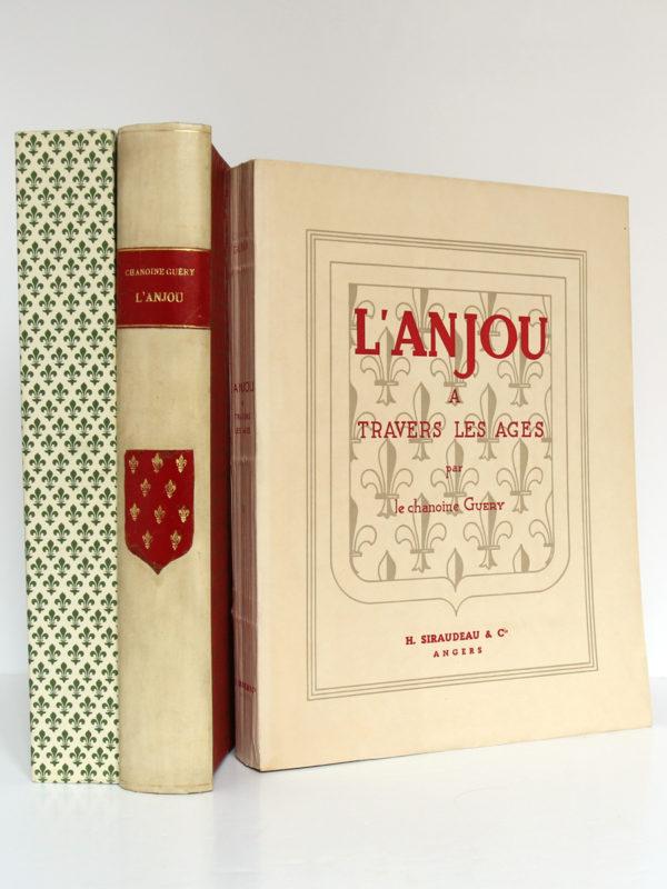 L'Anjou à travers les âges, Chanoine A. Guéry. H. Siraudeau & Cie, 1947. Livre, chemise et étui.