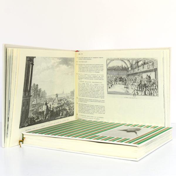 Almanach de la Révolution française et du Premier Empire, Jean Massin. Encyclopaedia Universalis, 1988. 2 volumes sous étui. Volume 1 : pages intérieures.