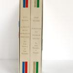 Almanach de la Révolution française et du Premier Empire, Jean Massin. Encyclopaedia Universalis, 1988. 2 volumes sous étui. Dos des volumes sous étui.