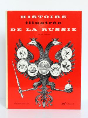 Histoire illustrée de la Russie, Joel Carmichael. nrf-Gallimard, 1960. Couverture.
