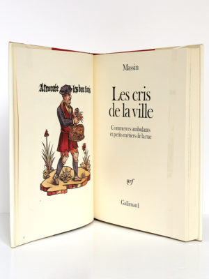 Les cris de la ville, Massin. Gallimard-nrf, 1978. Frontispice et page titre.