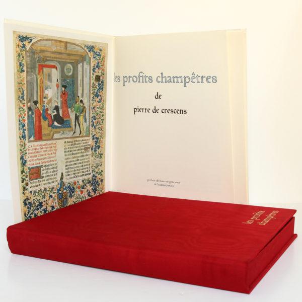 Les profits champêtres, Pierre de Crescens. Éditions Chavane, 1965. Frontispice et page-titre.