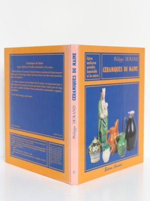 Céramiques du Maine, Philippe Durand. Éditions Cénomane, 1986. Couverture : dos et plats.
